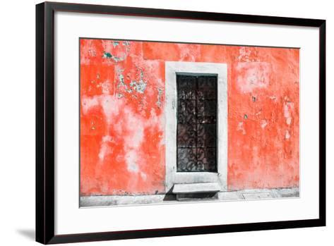 ?Viva Mexico! Collection - Red Wall of Silence-Philippe Hugonnard-Framed Art Print