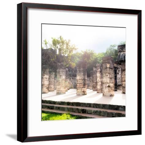¡Viva Mexico! Collection - One Thousand Mayan Columns V - Chichen Itza-Philippe Hugonnard-Framed Art Print
