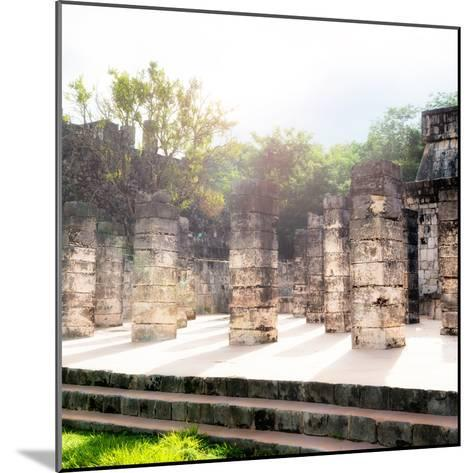 ¡Viva Mexico! Collection - One Thousand Mayan Columns V - Chichen Itza-Philippe Hugonnard-Mounted Photographic Print