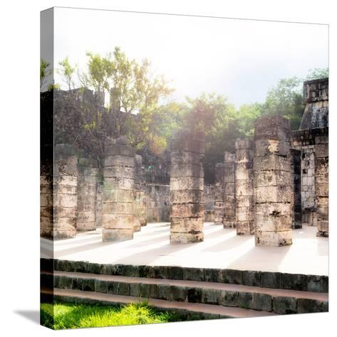 ¡Viva Mexico! Collection - One Thousand Mayan Columns V - Chichen Itza-Philippe Hugonnard-Stretched Canvas Print