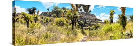 ¡Viva Mexico! Panoramic Collection - Pyramid of Cantona Archaeological Site-Philippe Hugonnard-Stretched Canvas Print