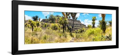 ¡Viva Mexico! Panoramic Collection - Pyramid of Cantona Archaeological Site-Philippe Hugonnard-Framed Art Print