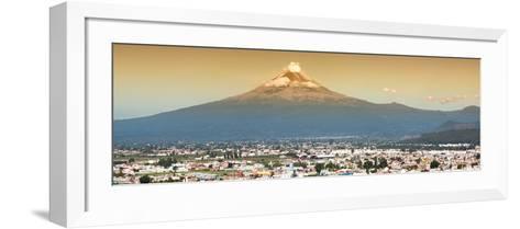 ¡Viva Mexico! Panoramic Collection - Popocatepetl Volcano in Puebla II-Philippe Hugonnard-Framed Art Print