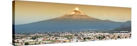 ¡Viva Mexico! Panoramic Collection - Popocatepetl Volcano in Puebla II-Philippe Hugonnard-Stretched Canvas Print