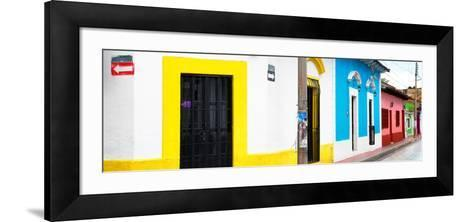 ¡Viva Mexico! Panoramic Collection - Colorful Street-Philippe Hugonnard-Framed Art Print