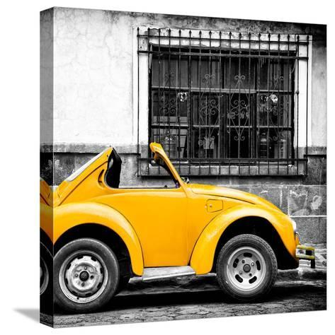 ¡Viva Mexico! Square Collection - Small Yellow VW Beetle Car-Philippe Hugonnard-Stretched Canvas Print