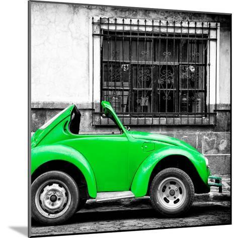 ¡Viva Mexico! Square Collection - Small Green VW Beetle Car-Philippe Hugonnard-Mounted Photographic Print