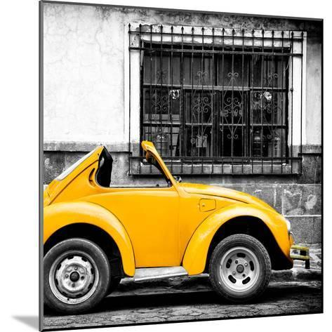 ¡Viva Mexico! Square Collection - Small Yellow VW Beetle Car-Philippe Hugonnard-Mounted Photographic Print