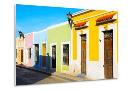 ?Viva Mexico! Collection - Campeche City Colonial Architecture-Philippe Hugonnard-Metal Print