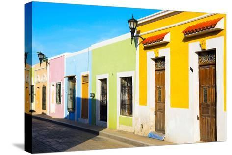 ?Viva Mexico! Collection - Campeche City Colonial Architecture-Philippe Hugonnard-Stretched Canvas Print