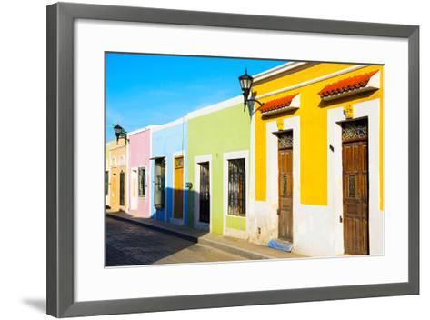 ?Viva Mexico! Collection - Campeche City Colonial Architecture-Philippe Hugonnard-Framed Art Print