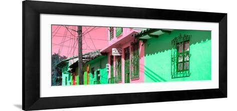¡Viva Mexico! Panoramic Collection - Colorful Houses in San Cristobal II-Philippe Hugonnard-Framed Art Print