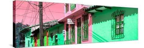 ¡Viva Mexico! Panoramic Collection - Colorful Houses in San Cristobal II-Philippe Hugonnard-Stretched Canvas Print