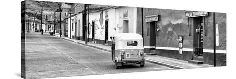 ¡Viva Mexico! Panoramic Collection - Mexican Street Scene with Tuk Tuk II-Philippe Hugonnard-Stretched Canvas Print
