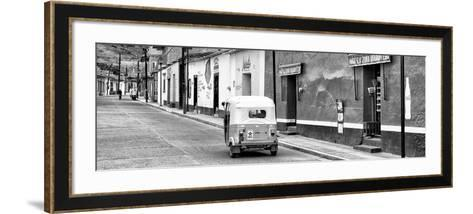 ¡Viva Mexico! Panoramic Collection - Mexican Street Scene with Tuk Tuk II-Philippe Hugonnard-Framed Art Print
