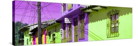 ¡Viva Mexico! Panoramic Collection - Colorful Houses in San Cristobal IV-Philippe Hugonnard-Stretched Canvas Print
