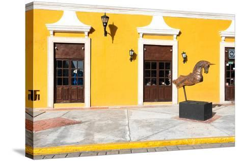 ?Viva Mexico! Collection - Yellow Facade - Campeche-Philippe Hugonnard-Stretched Canvas Print