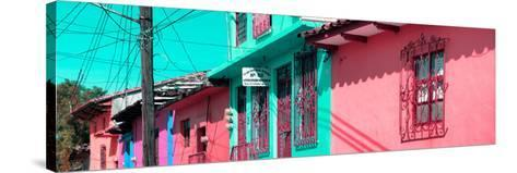 ¡Viva Mexico! Panoramic Collection - Colorful Houses in San Cristobal III-Philippe Hugonnard-Stretched Canvas Print