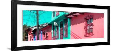 ¡Viva Mexico! Panoramic Collection - Colorful Houses in San Cristobal III-Philippe Hugonnard-Framed Art Print
