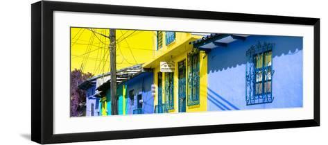 ¡Viva Mexico! Panoramic Collection - Colorful Houses in San Cristobal V-Philippe Hugonnard-Framed Art Print