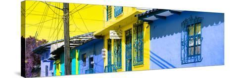 ¡Viva Mexico! Panoramic Collection - Colorful Houses in San Cristobal V-Philippe Hugonnard-Stretched Canvas Print