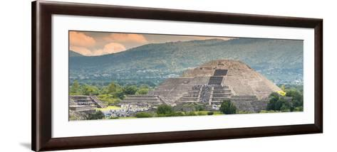 ¡Viva Mexico! Panoramic Collection - Teotihuacan Pyramid of the Sun II-Philippe Hugonnard-Framed Art Print