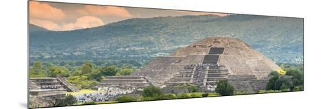 ¡Viva Mexico! Panoramic Collection - Teotihuacan Pyramid of the Sun II-Philippe Hugonnard-Mounted Photographic Print