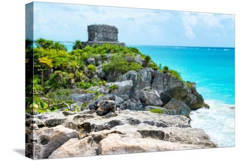 ?Viva Mexico! Collection - Mayan Archaeological Site with Iguana II - Tulum-Philippe Hugonnard-Stretched Canvas Print