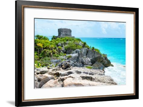 ?Viva Mexico! Collection - Mayan Archaeological Site with Iguana II - Tulum-Philippe Hugonnard-Framed Art Print