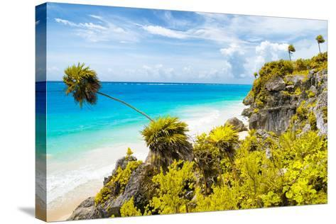 ?Viva Mexico! Collection - Caribbean Coastline in Tulum II-Philippe Hugonnard-Stretched Canvas Print