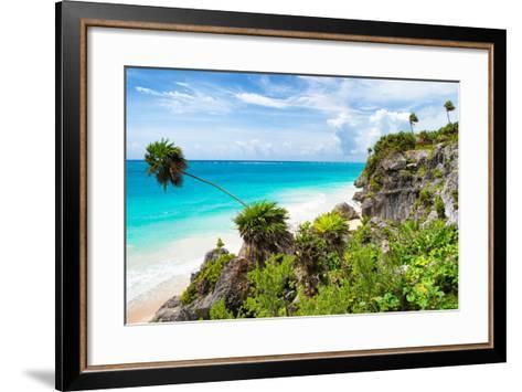 ?Viva Mexico! Collection - Caribbean Coastline in Tulum-Philippe Hugonnard-Framed Art Print