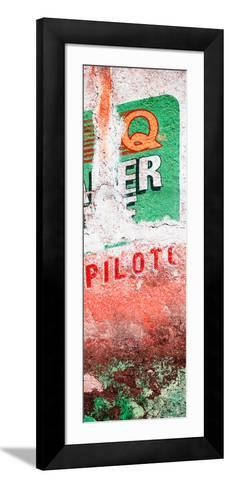 ¡Viva Mexico! Panoramic Collection - Red Grunge Wall II-Philippe Hugonnard-Framed Art Print