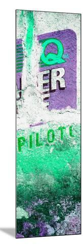 ¡Viva Mexico! Panoramic Collection - Green Grunge Wall II-Philippe Hugonnard-Mounted Photographic Print