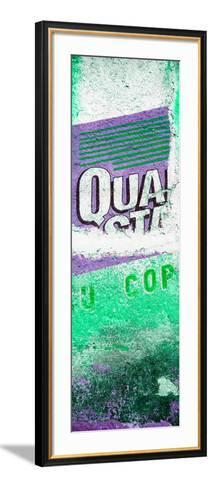 ¡Viva Mexico! Panoramic Collection - Green Grunge Wall-Philippe Hugonnard-Framed Art Print