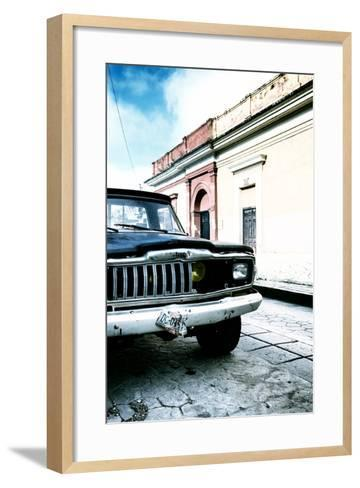 ¡Viva Mexico! Collection - Old Black Jeep and Colorful Street V-Philippe Hugonnard-Framed Art Print