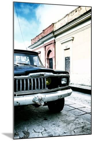 ¡Viva Mexico! Collection - Old Black Jeep and Colorful Street V-Philippe Hugonnard-Mounted Photographic Print
