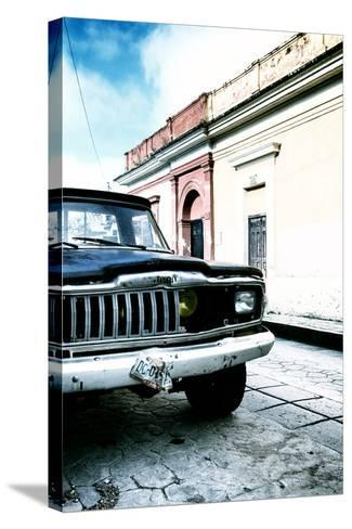 ¡Viva Mexico! Collection - Old Black Jeep and Colorful Street V-Philippe Hugonnard-Stretched Canvas Print