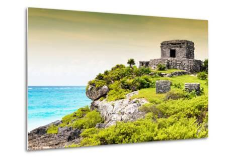 ¡Viva Mexico! Collection - Ancient Mayan Fortress in Riviera Maya at Sunset - Tulum-Philippe Hugonnard-Metal Print