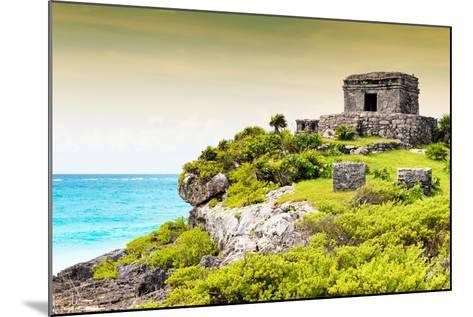 ¡Viva Mexico! Collection - Ancient Mayan Fortress in Riviera Maya at Sunset - Tulum-Philippe Hugonnard-Mounted Photographic Print