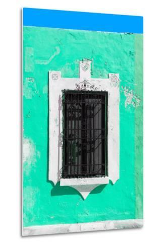 ¡Viva Mexico! Collection - Coral Green Window - Campeche-Philippe Hugonnard-Metal Print
