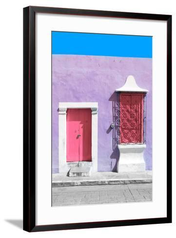 ?Viva Mexico! Collection - Pink and Mauve Facade - Campeche-Philippe Hugonnard-Framed Art Print