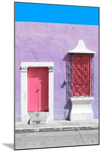 ?Viva Mexico! Collection - Pink and Mauve Facade - Campeche-Philippe Hugonnard-Mounted Photographic Print