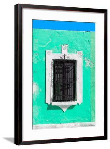 ¡Viva Mexico! Collection - Coral Green Window - Campeche-Philippe Hugonnard-Framed Art Print