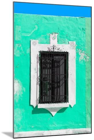 ¡Viva Mexico! Collection - Coral Green Window - Campeche-Philippe Hugonnard-Mounted Photographic Print