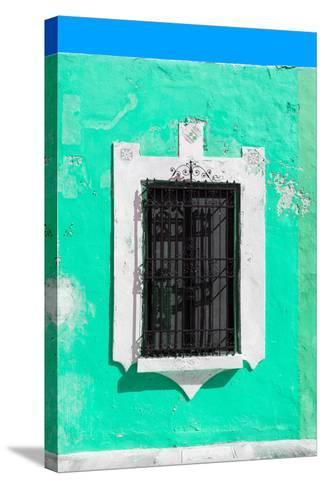 ¡Viva Mexico! Collection - Coral Green Window - Campeche-Philippe Hugonnard-Stretched Canvas Print