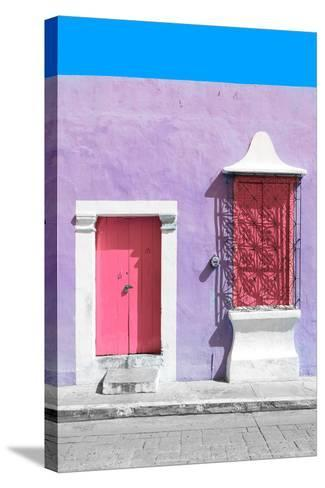 ?Viva Mexico! Collection - Pink and Mauve Facade - Campeche-Philippe Hugonnard-Stretched Canvas Print
