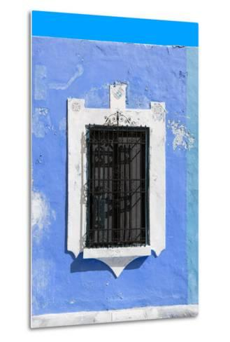 ¡Viva Mexico! Collection - Blue Window - Campeche-Philippe Hugonnard-Metal Print