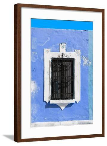 ¡Viva Mexico! Collection - Blue Window - Campeche-Philippe Hugonnard-Framed Art Print