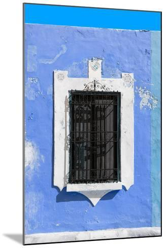 ¡Viva Mexico! Collection - Blue Window - Campeche-Philippe Hugonnard-Mounted Photographic Print