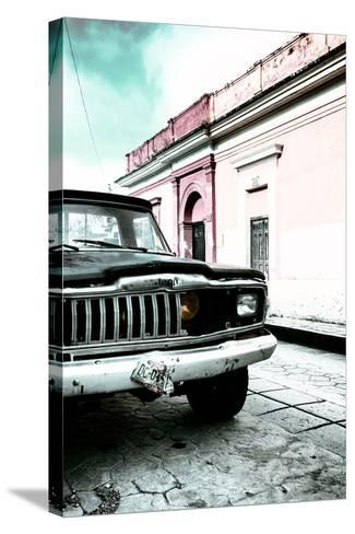 ¡Viva Mexico! Collection - Old Black Jeep and Colorful Street VII-Philippe Hugonnard-Stretched Canvas Print